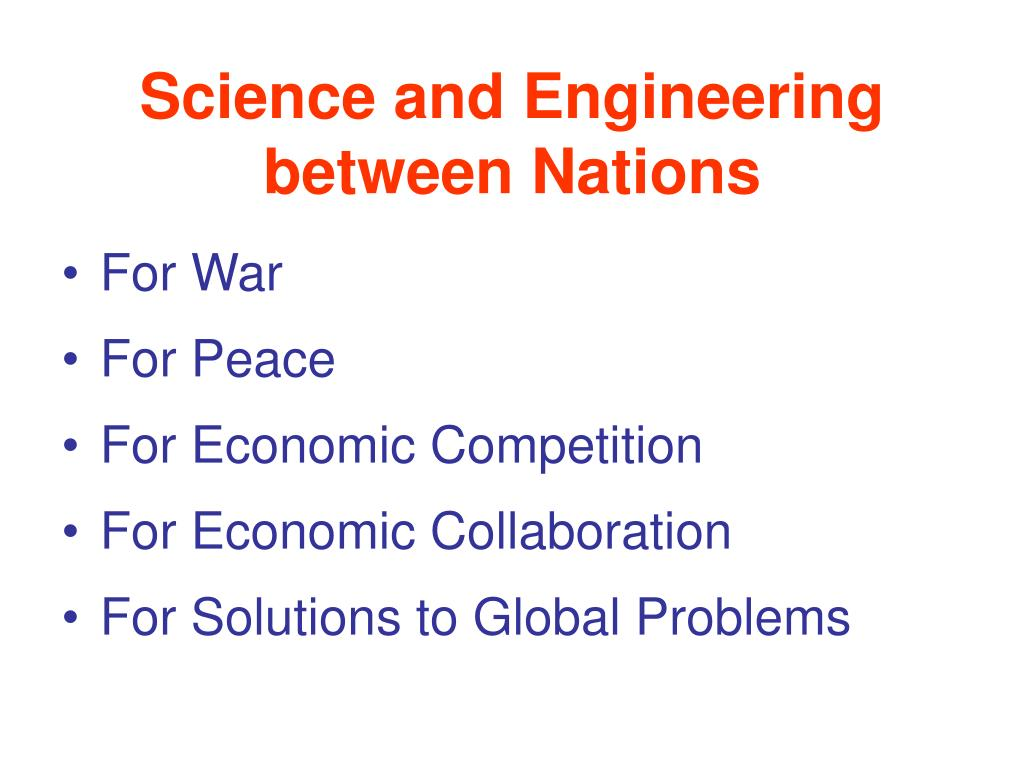 Science and Engineering between Nations