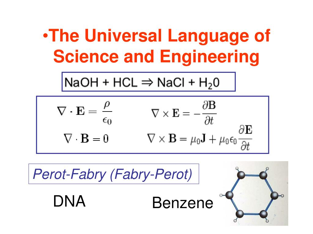 The Universal Language of Science and Engineering