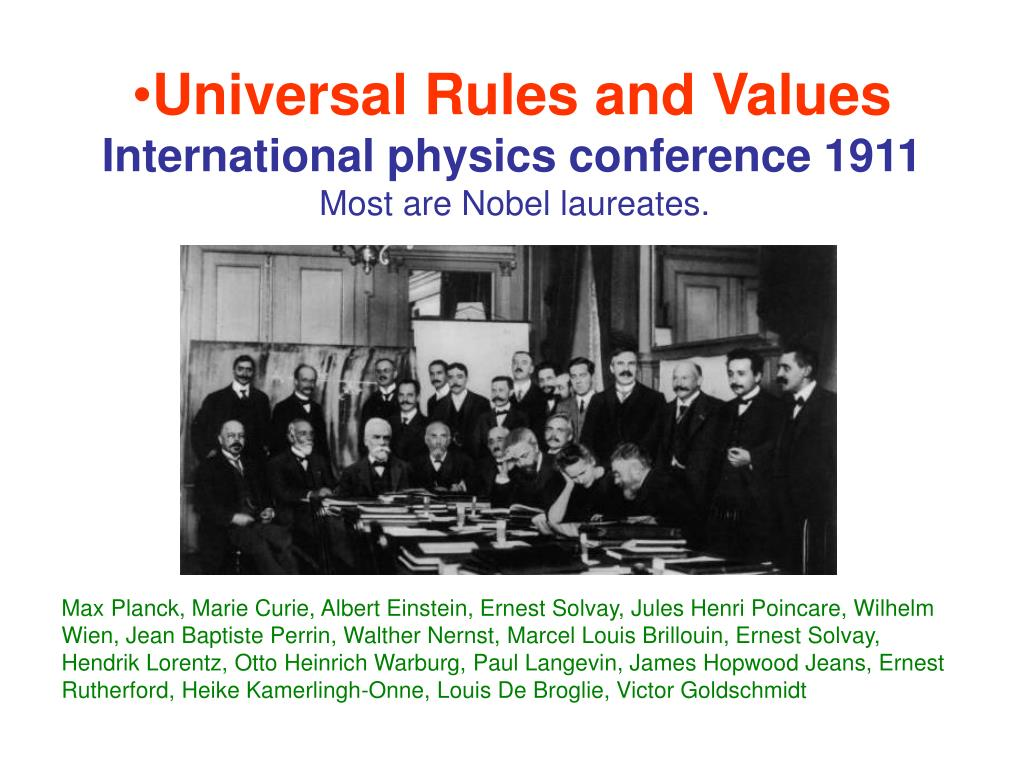Universal Rules and Values