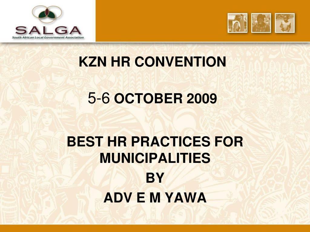 KZN HR CONVENTION
