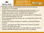 repositioning lg municipal hr as a strategic function