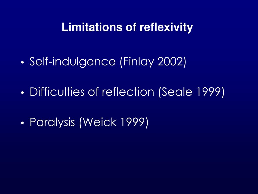 Limitations of reflexivity