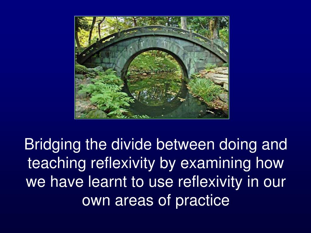 Bridging the divide between doing and teaching reflexivity by examining how we have learnt to use reflexivity in our own areas of practice