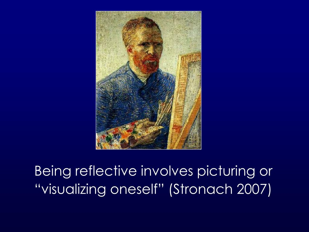 Being reflective involves picturing or