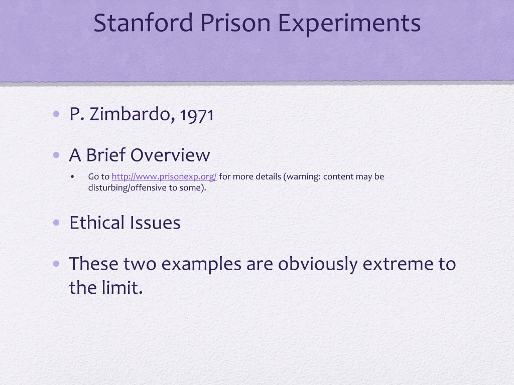 Stanford Prison Experiments