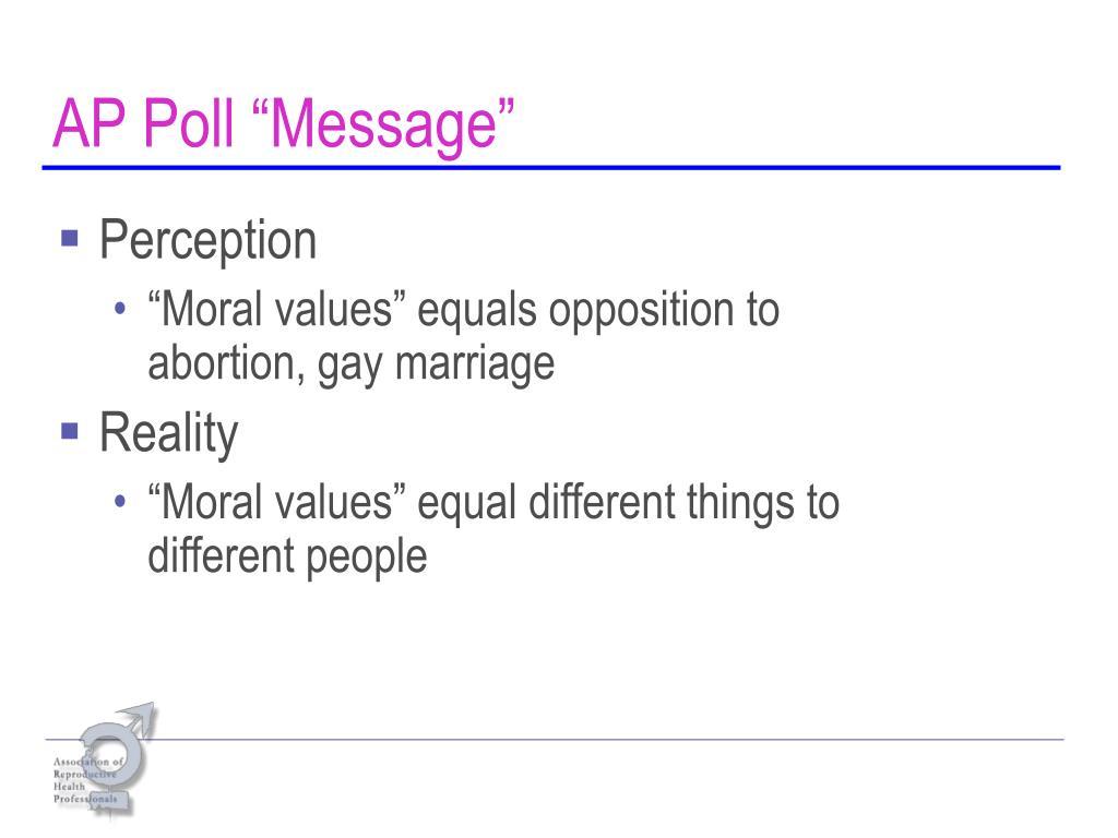 "AP Poll ""Message"""