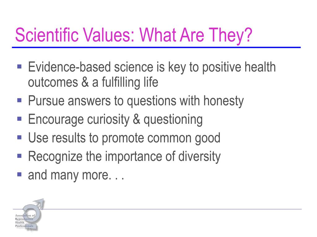 Scientific Values: What Are They?