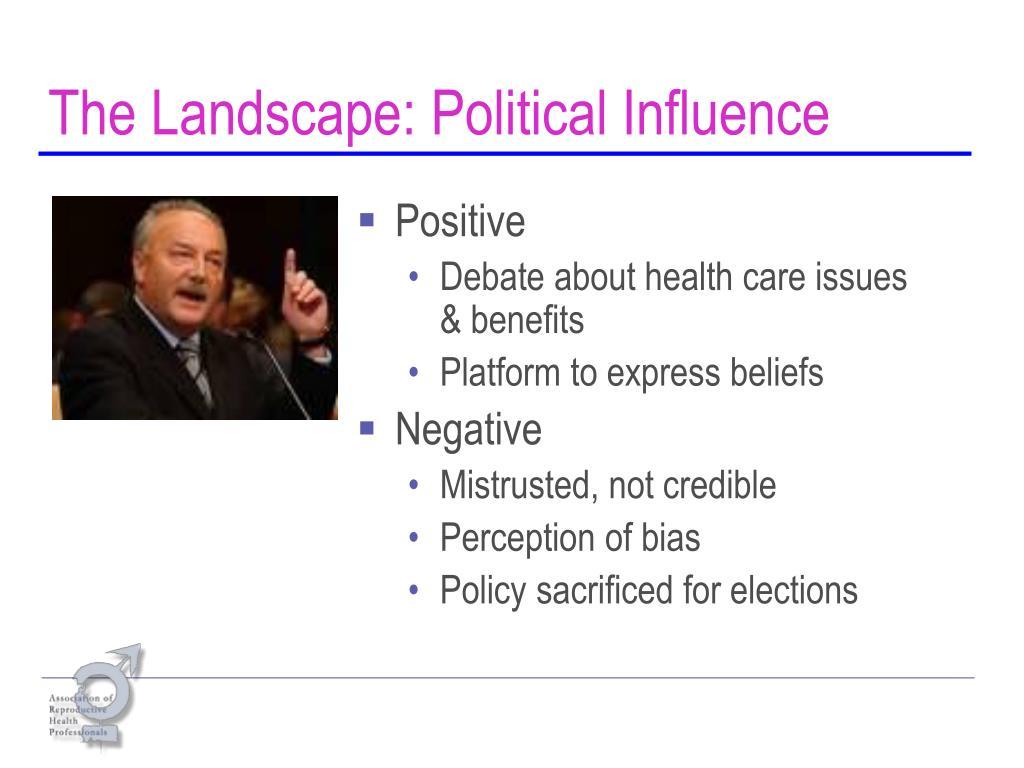 The Landscape: Political Influence