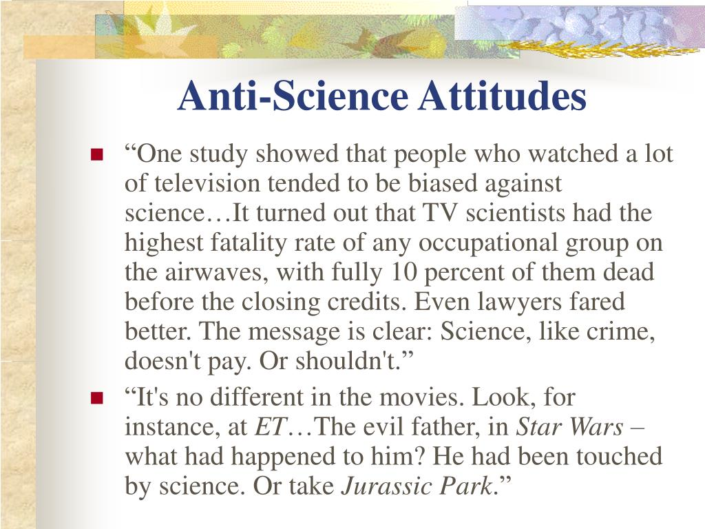 Anti-Science Attitudes