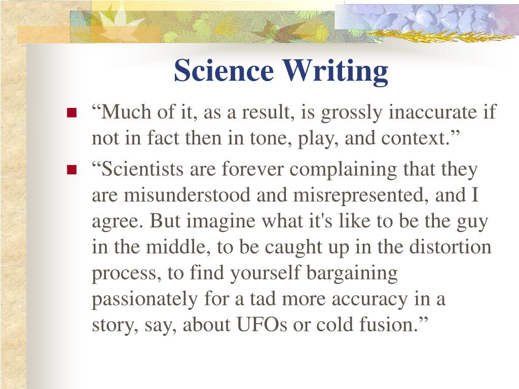 Science Writing