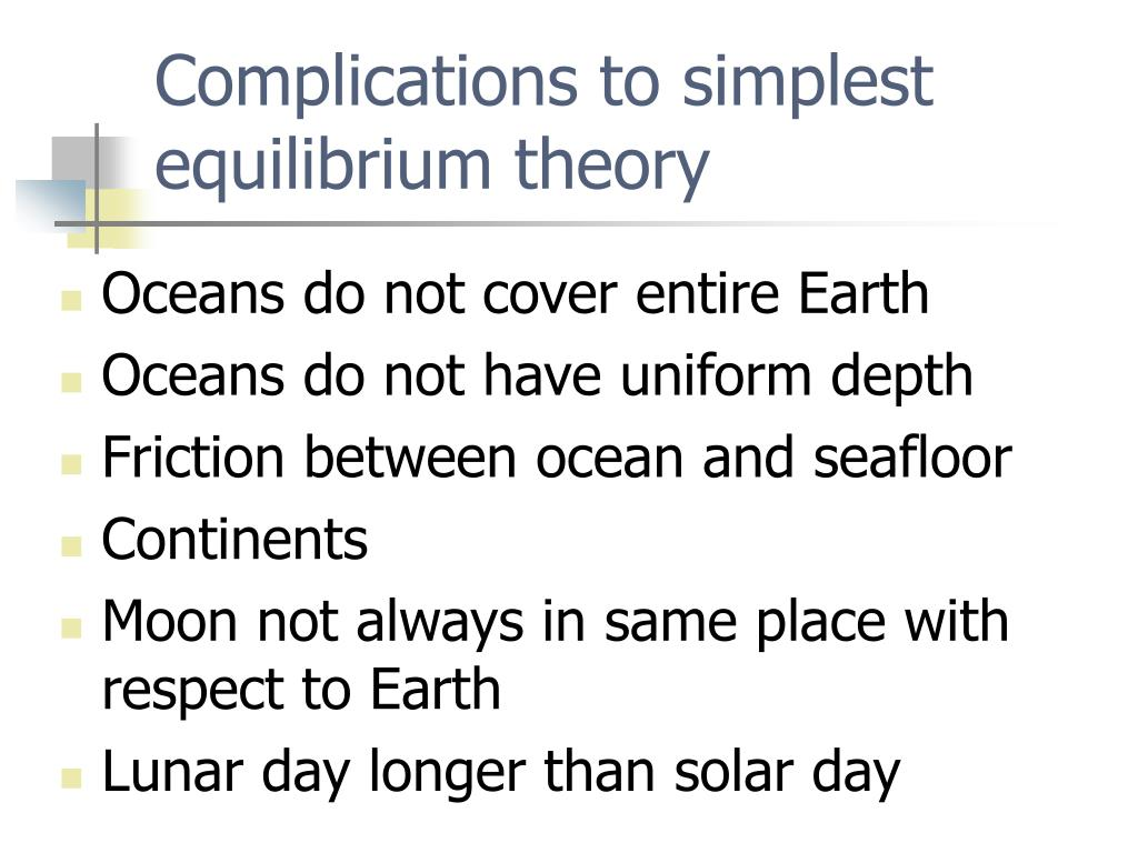 Complications to simplest equilibrium theory