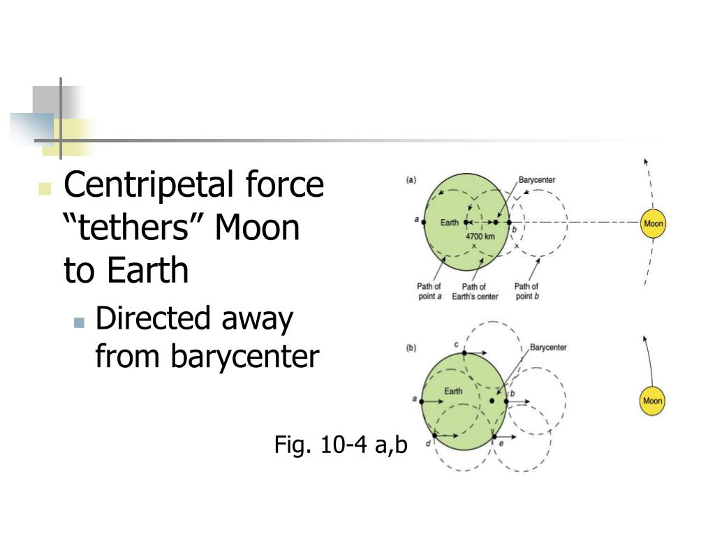 """Centripetal force """"tethers"""" Moon to Earth"""