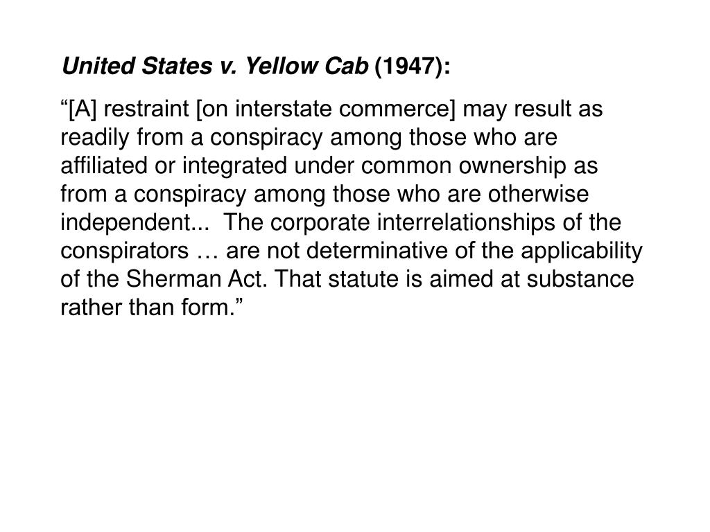 United States v. Yellow Cab