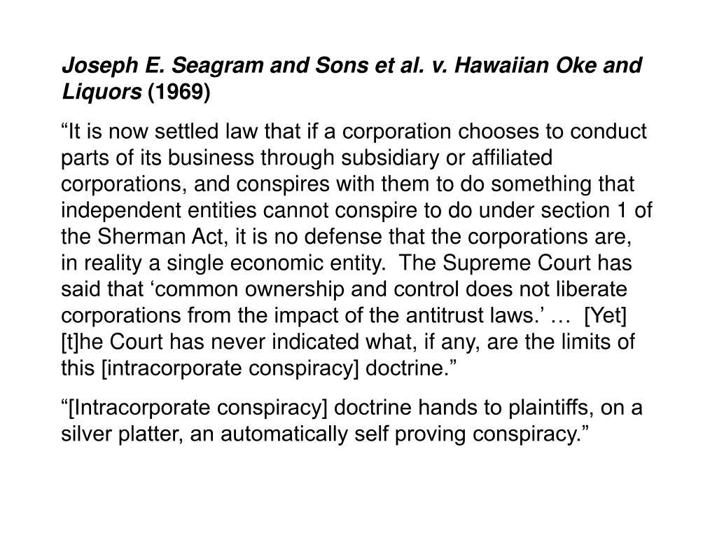 Joseph E. Seagram and Sons et al. v. Hawaiian Oke and Liquors
