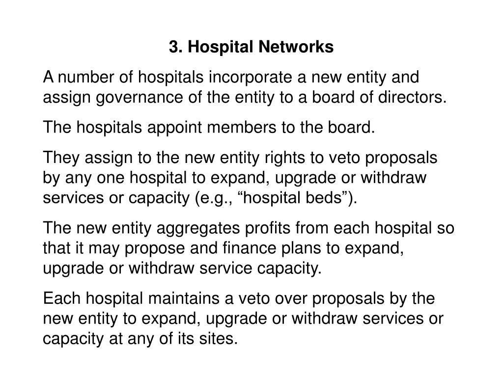 3. Hospital Networks
