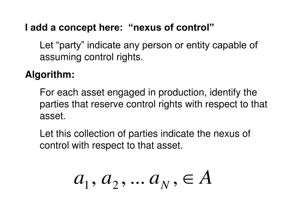 """I add a concept here:  """"nexus of control"""""""