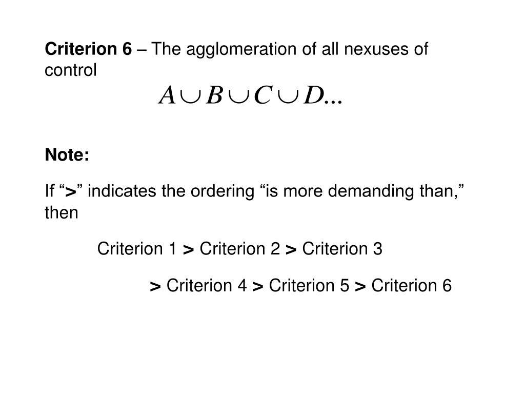 Criterion 6