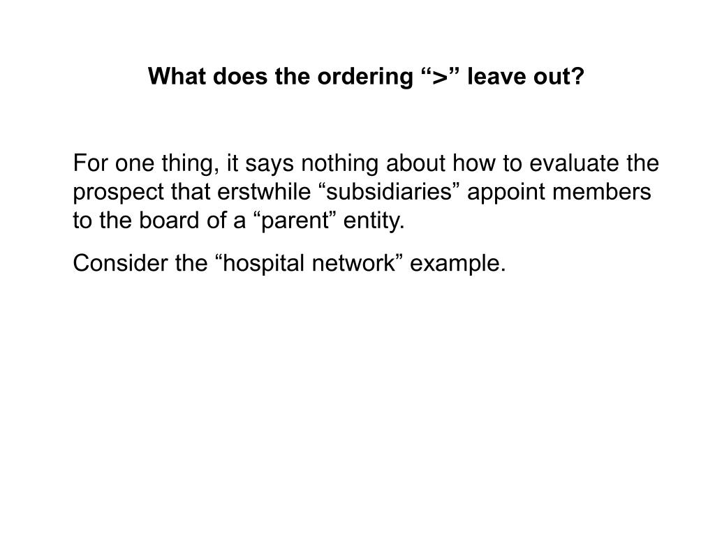 """What does the ordering """""""