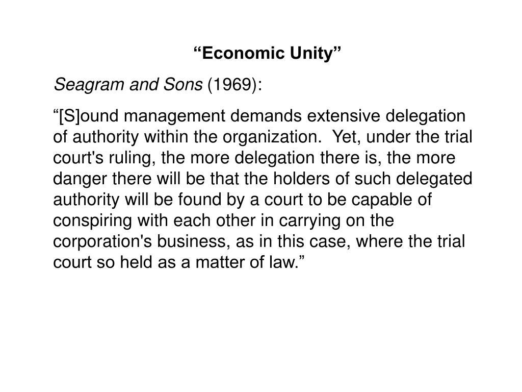 """""""Economic Unity"""""""