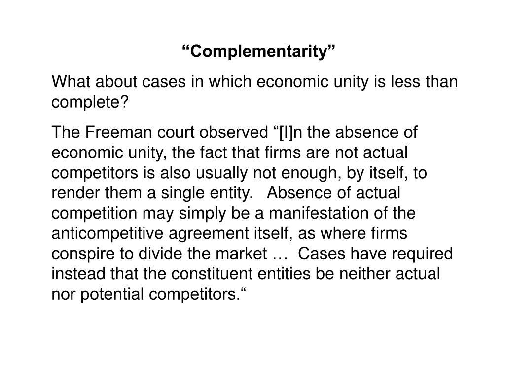 """""""Complementarity"""""""