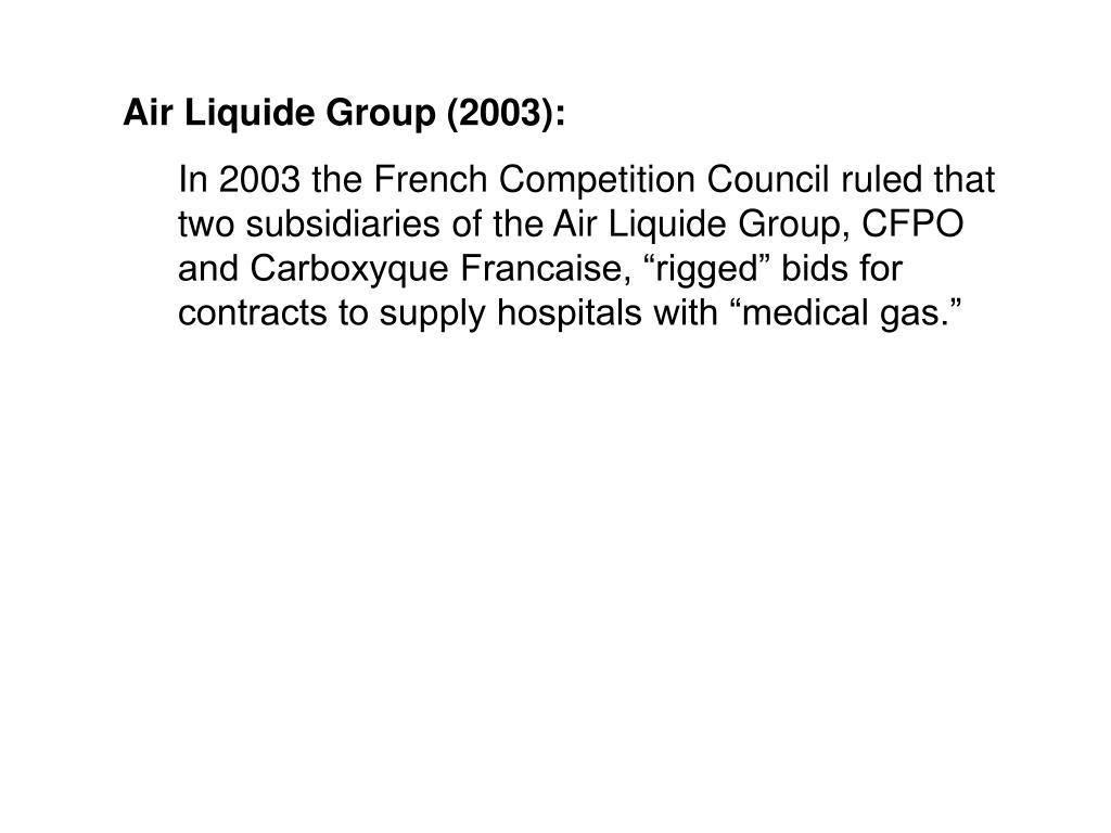 Air Liquide Group (2003):