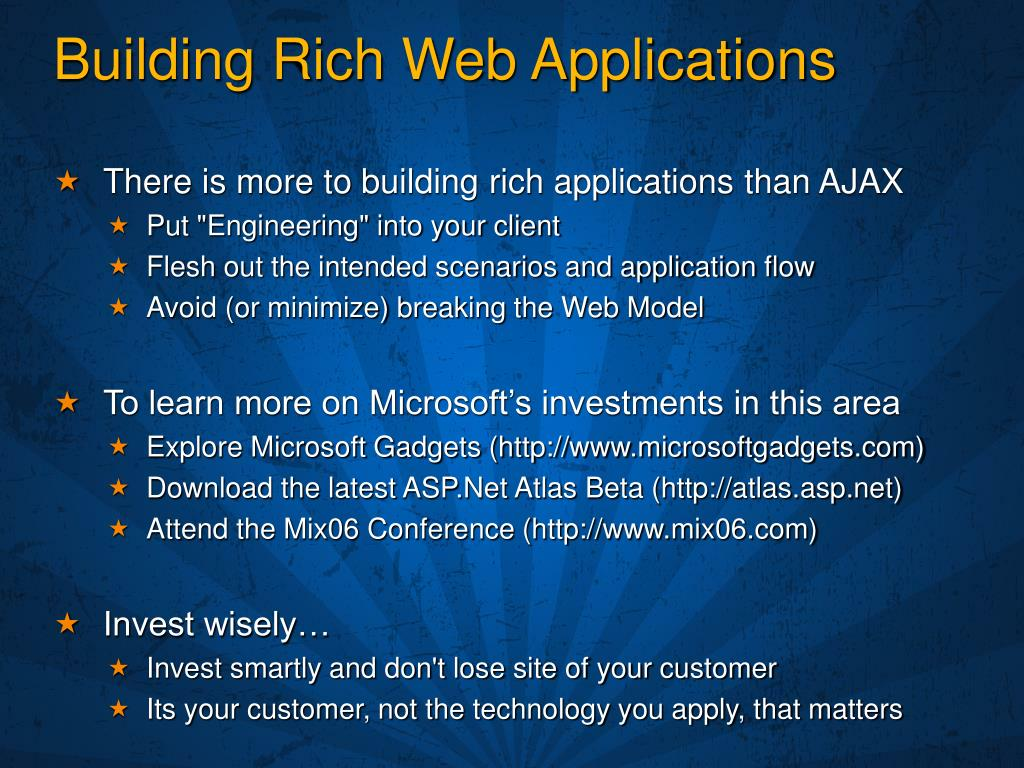 Building Rich Web Applications