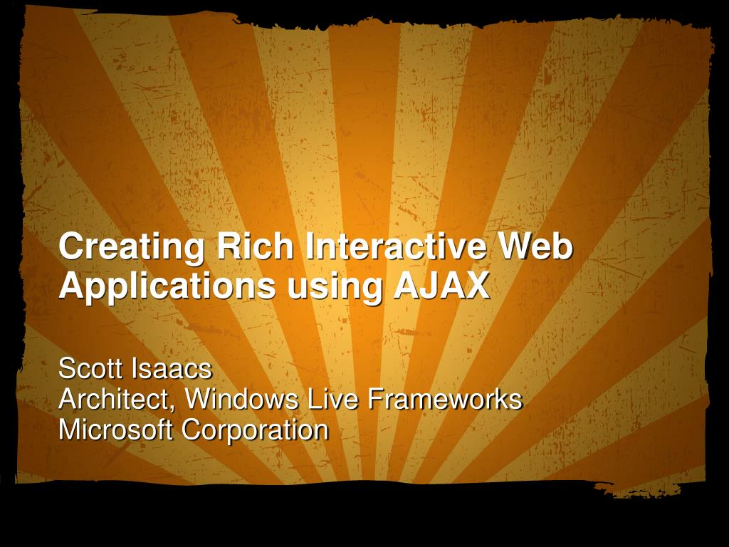 Creating Rich Interactive Web Applications using AJAX