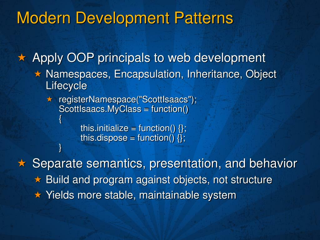 Modern Development Patterns