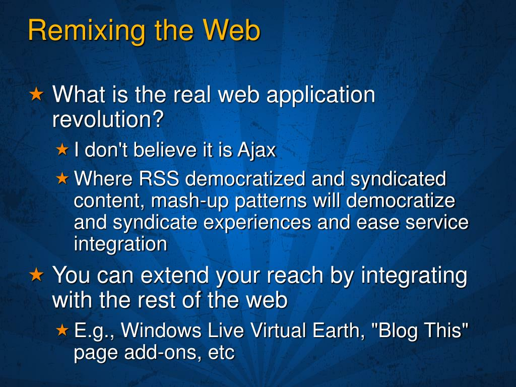 Remixing the Web