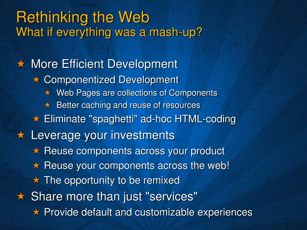 Rethinking the Web