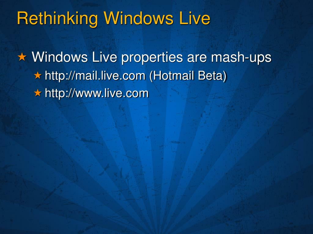 Rethinking Windows Live