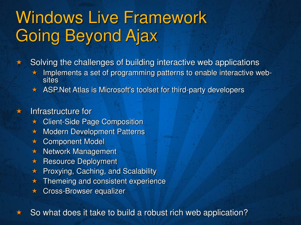Windows Live Framework