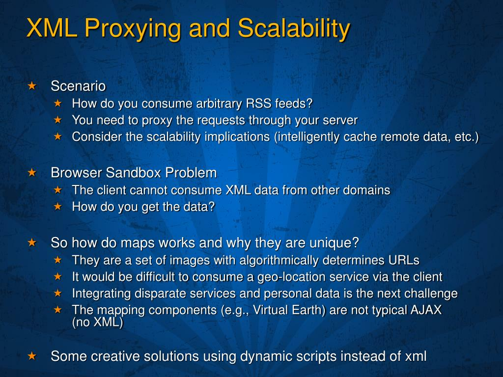 XML Proxying and Scalability