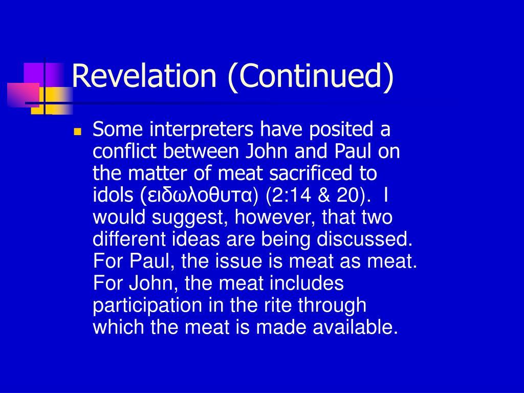 Revelation (Continued)