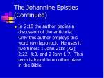 the johannine epistles continued12