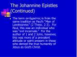 the johannine epistles continued13