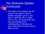 the johannine epistles continued6