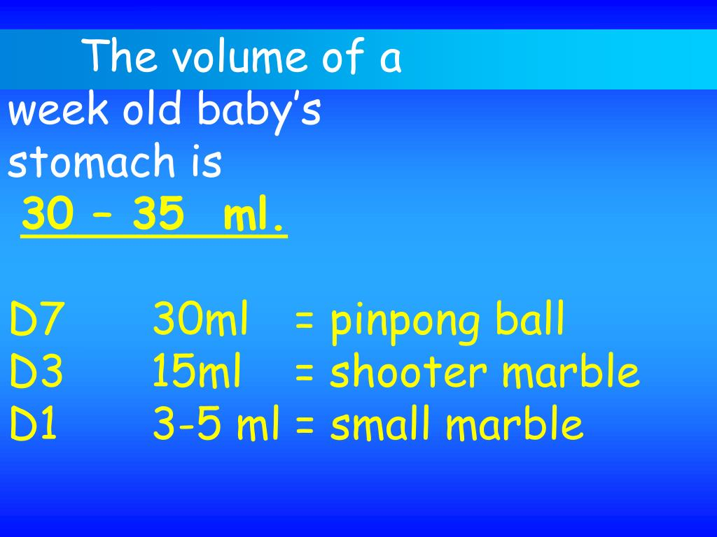The volume of a