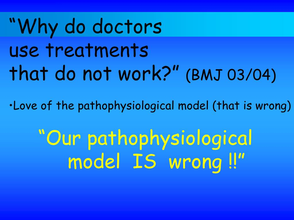 """Why do doctors"