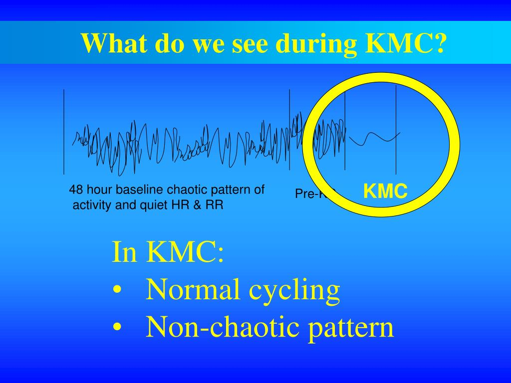 What do we see during KMC?