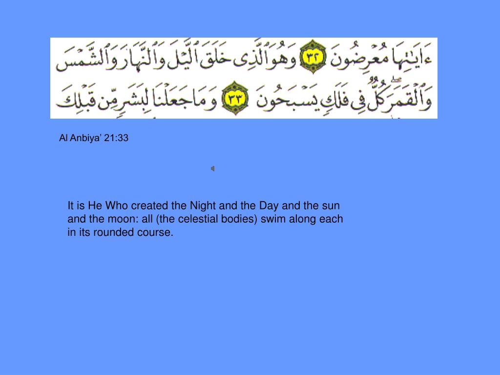 Al Anbiya' 21:33