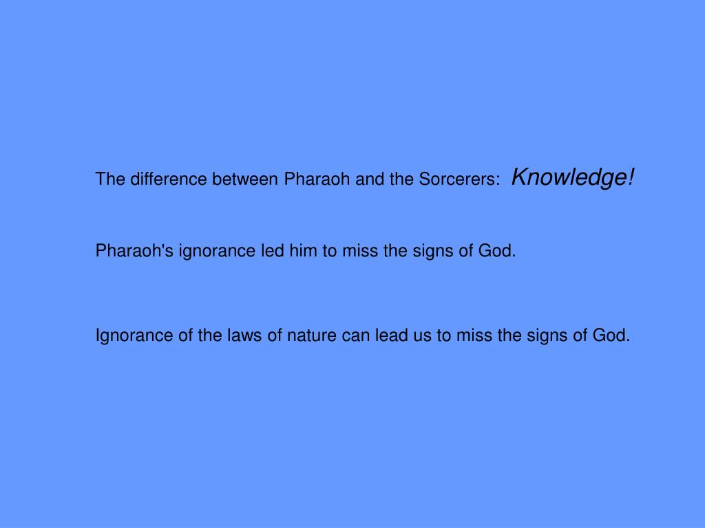The difference between Pharaoh and the Sorcerers: