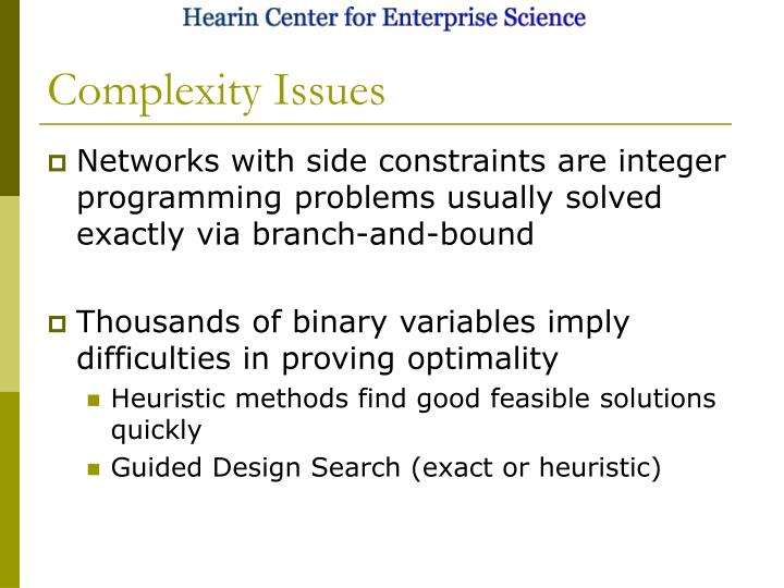 Complexity Issues