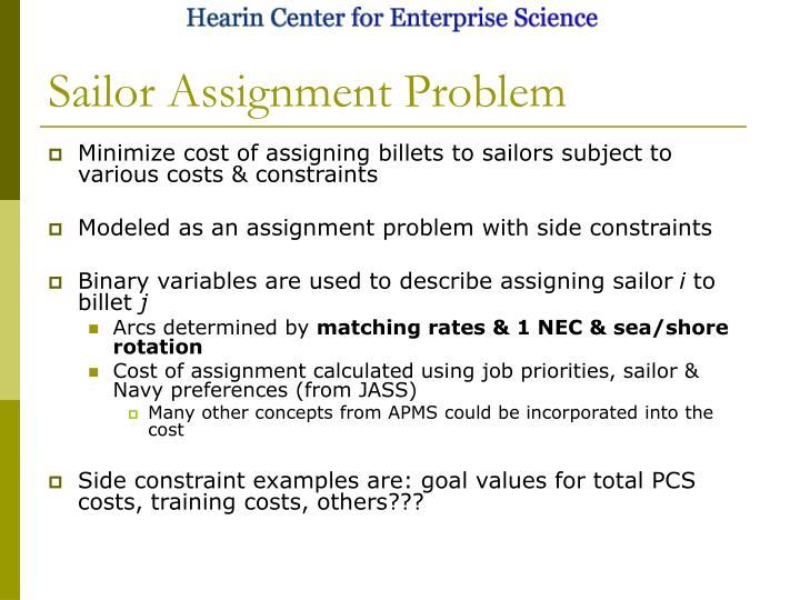 Sailor Assignment Problem