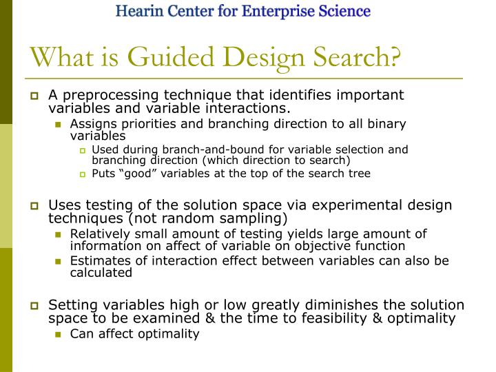 What is Guided Design Search?