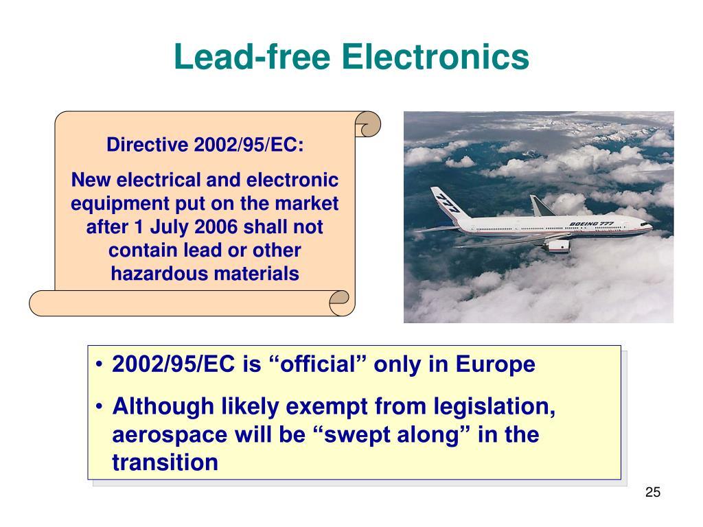 Directive 2002/95/EC: