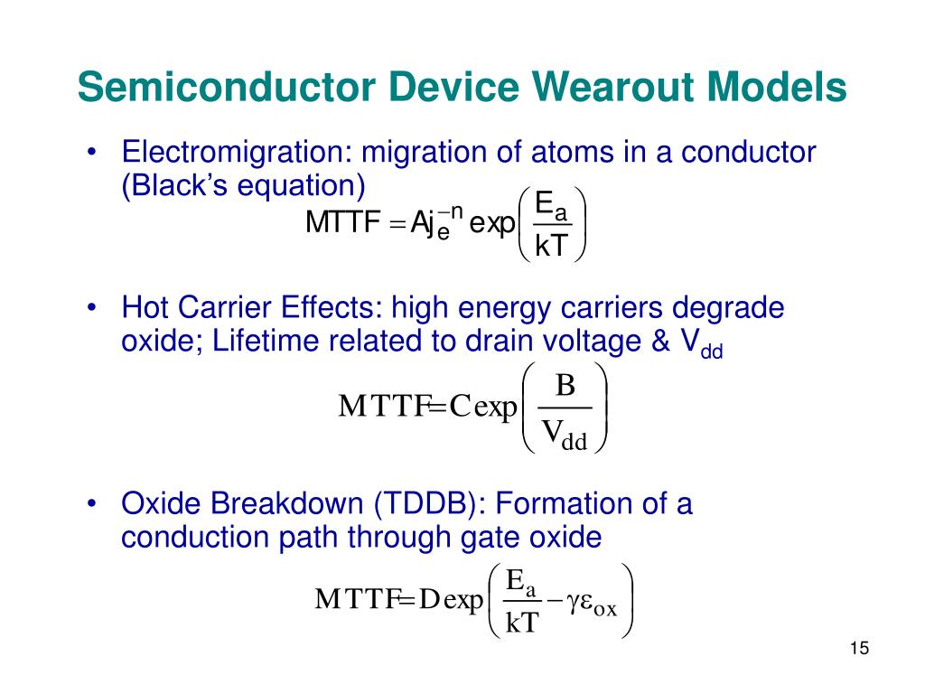 Semiconductor Device Wearout Models