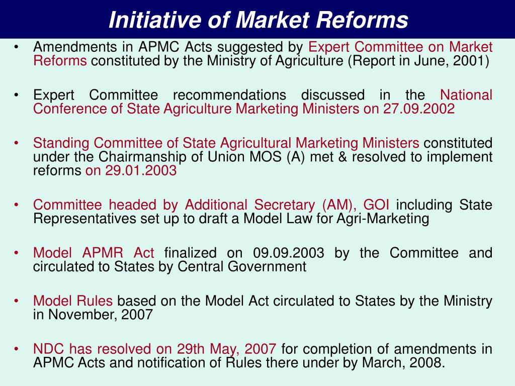 Initiative of Market Reforms