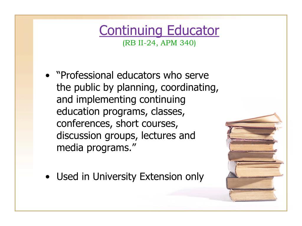 Continuing Educator