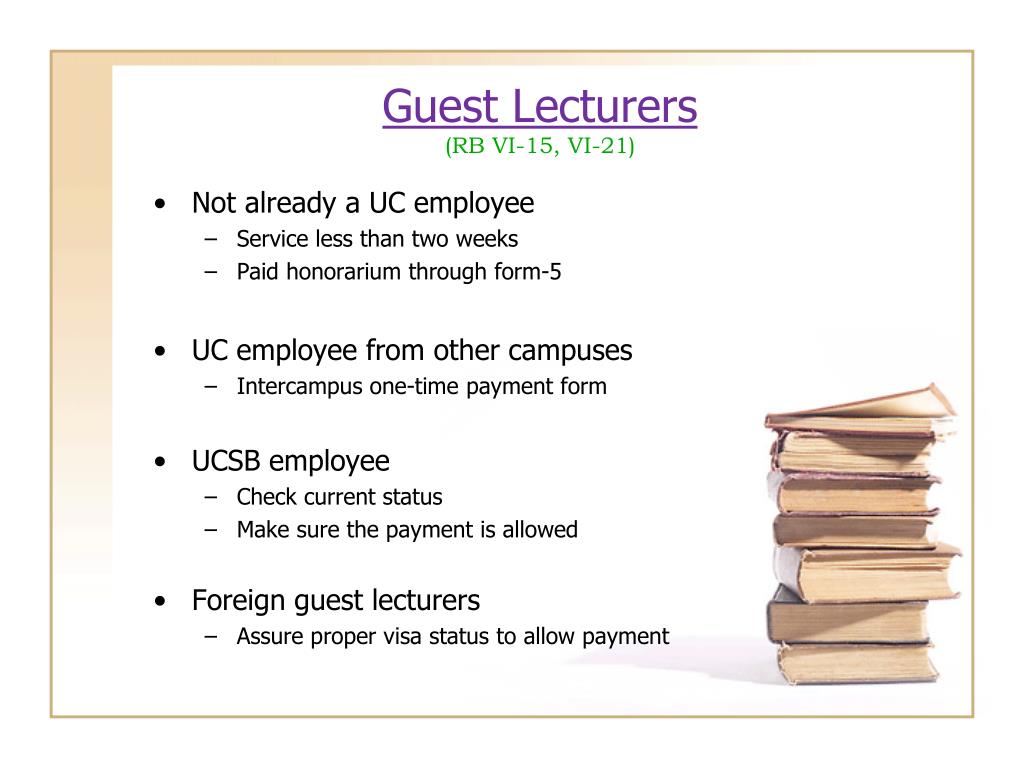 Guest Lecturers